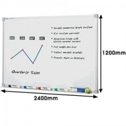 2400x1200mm - Penrite Premium Magnetic Whiteboard