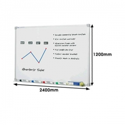 1800x1200mm - Penrite Premium Magnetic Whiteboard