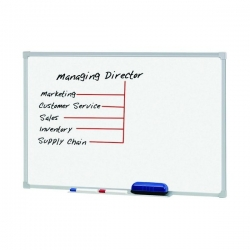 1500x1200mm - Penrite Porcelain Magnetic Whiteboard