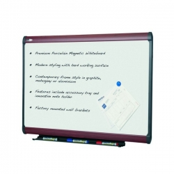 1810x1220mm - Penrite Mahogany Magnetic Whiteboard