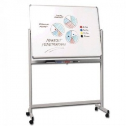 1800x1200mm - Penrite Mobile Magnetic Whiteboard