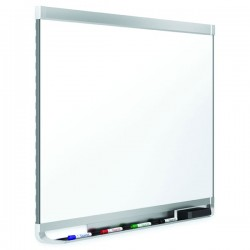 895x635mm Quartet Prestige 2 Porcelain Aluminium Whiteboard